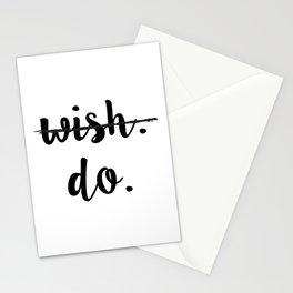 WISH, DO Stationery Cards