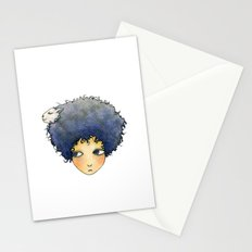 the girl with lamb hair Stationery Cards