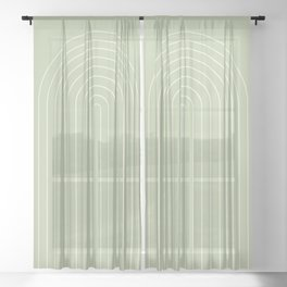 Minimalist Arch XVII Sheer Curtain