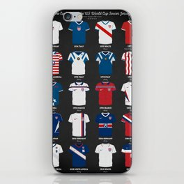 The Evolution Of The Us World Cup Soccer Jersey iPhone Skin