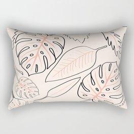 Monstera Pastel Rectangular Pillow