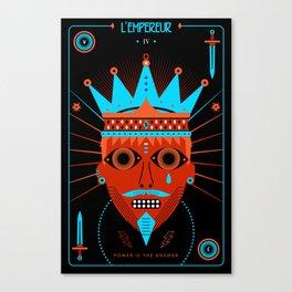 TAROT. IV- L´Empereur Canvas Print