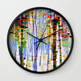 Winter Woods Abstract Wall Clock