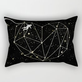 Astronaut Found Love in Space Rectangular Pillow