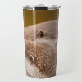 Cuddling Up Together - Otterly Cute Travel Mug