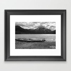 Eklutna Lake Framed Art Print