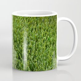 Abstract background artificial green grass Coffee Mug