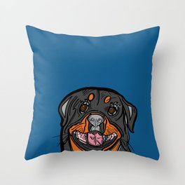 Who Loves a Rottweiler? Throw Pillow