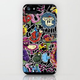 Doodle Monsters iPhone Case