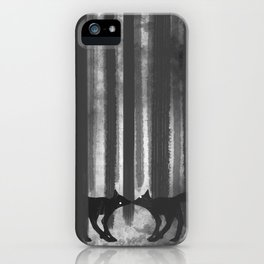foxes in the forest iPhone Case