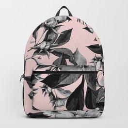 Floral pink - black & white Backpack