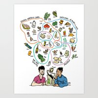 totes Art Prints featuring Totes Hungry! by Dave Valeza