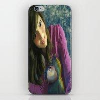 ale giorgini iPhone & iPod Skins featuring Ale+bichin by CataBeja Umaña Azul