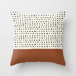 Burnt Orange x Dots Throw Pillow