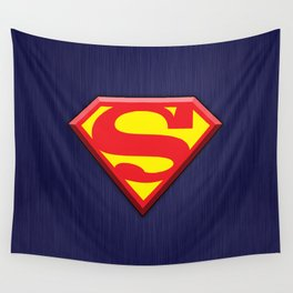 Super Hero Super Man Wall Tapestry