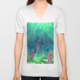 Sea Music Unisex V-Neck