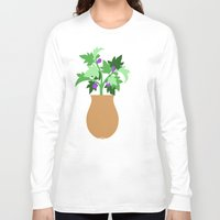 fig Long Sleeve T-shirts featuring fig by Little Lost Garden