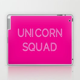 Unicorn Squad - Hot Pink and White Laptop & iPad Skin