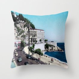 1950's Vintage Nice France Throw Pillow