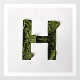 Hierba Buena - Mint Helvetica Art Print
