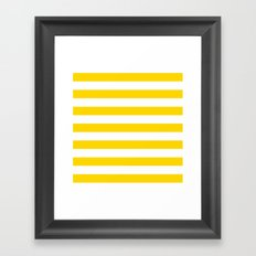 Horizontal Stripes (Gold/White) Framed Art Print
