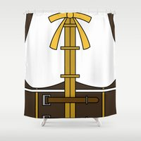 magical girl Shower Curtains featuring Mami Tomoe Magical Girl Dress by Bunny Frost