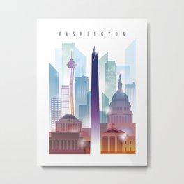 City of skyline, Washington DC, United States Metal Print
