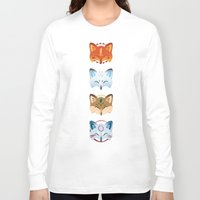 foxes Long Sleeve T-shirts featuring Foxes by Kiteytetty