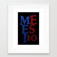 messi Framed Art Prints featuring Messi by Sport_Designs