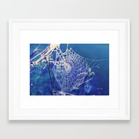 dreamcatcher Framed Art Prints featuring dreamcatcher by Luiza Lazar