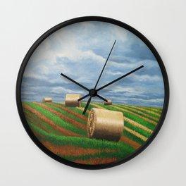 Stormy Harvest Wall Clock