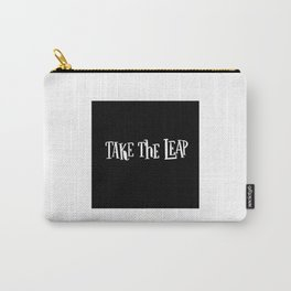 Take The Leap: black Carry-All Pouch