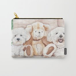 Two Bichons and A Friend Carry-All Pouch