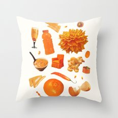 ORANGE II Throw Pillow