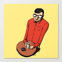 cafe Canvas Prints featuring Cafe by Matt Schumacher