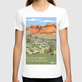 Vintage Poster - Red Rock Canyon National Conservation Area, Nevada (2015) T-shirt
