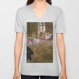 "Edgar Deags ""Rehearsal in the Studio"" Unisex V-Neck"