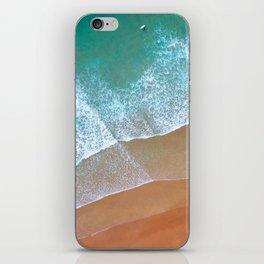 Aerial surf day, Turquoise sea, ocean, coast, Atlantic, Portugal, beach, waves, sea, prints, project iPhone Skin