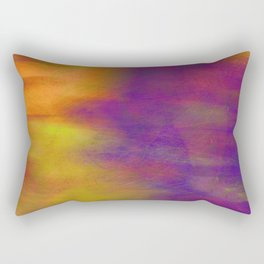 Purple Dawn abstract art  by Ann Powell Rectangular Pillow
