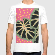 Dotty Pink White Mens Fitted Tee SMALL