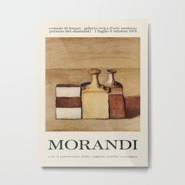 Giorgio Morandi. Exhibition poster for Palazzo dei Diamanti in Ferrara, 1978. Metal Print