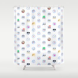 mrchowderclam emote pattern Shower Curtain