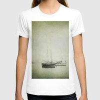 boats T-shirts featuring Two boats by Victoria Herrera