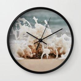 Beach Splash Wall Clock