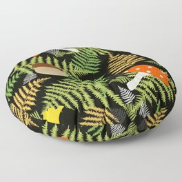 the scents of the forest Floor Pillow