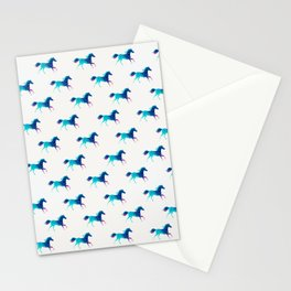 blue horse pattern Stationery Cards