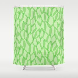 Overlapping Leaves - Light Green Shower Curtain