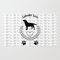 labrador Area & Throw Rugs featuring Labrador Love by naturessol
