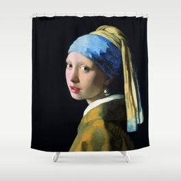 Vermeer - Girl with a Pearl Earring Shower Curtain