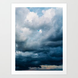 Rain Storm Clouds Gathering On Sky, Stormy Sky, Infinity Art Print